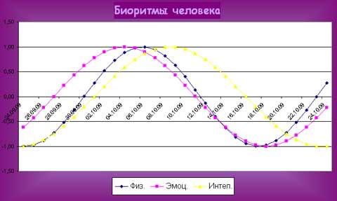 график биоритмов человека