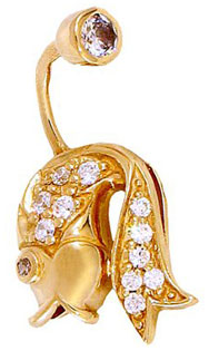 Ювелирные украшения из золота для пирсинга