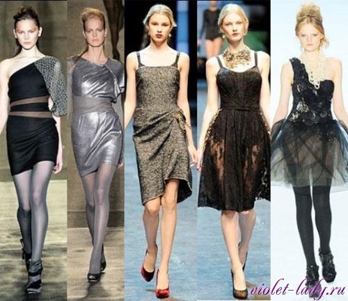 Модные коктейльные платья. Бренды: Badgley Mischka, Dolce & Gabbana, Vera Wang