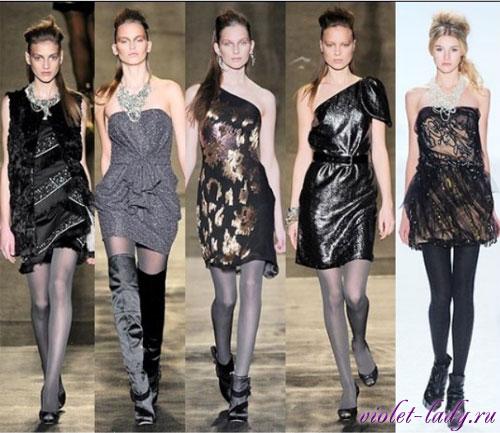 Модные коктейльные платья. Бренды: Badgley Mischka, Vera Wang