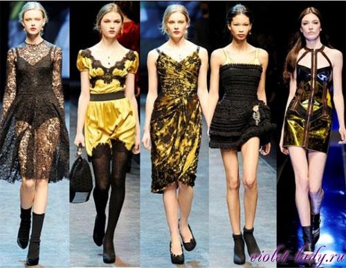 Модные коктейльные платья. Бренды: Dolce & Gabbana, Versace