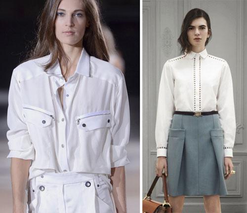Модные белые блузки 2013