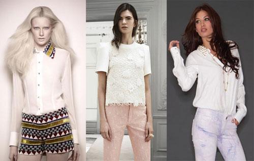 белые блузы 2013