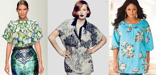 Модные блузы 2013 для полных