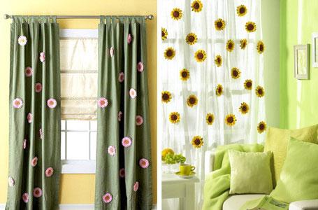 цветы для декорирования штор