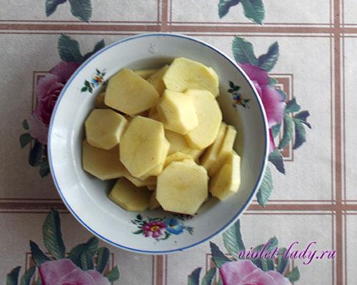 картофель с красной рыбой