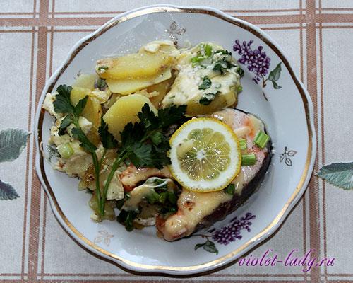 вкусный рецепт рыбы в духовке с картошкой в