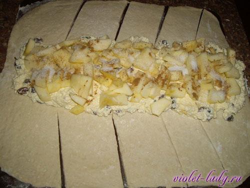 пирог с яблоками слоеное тесто