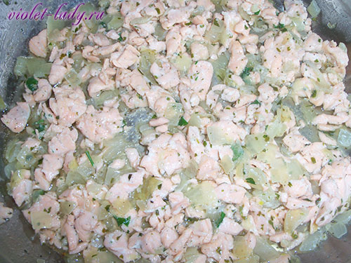 паста с соленым лососем