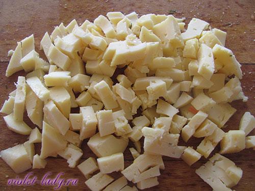 Готовим салат с кальмарами и сыром