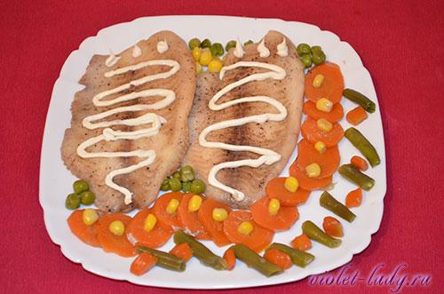 тилапия запеченная с овощами