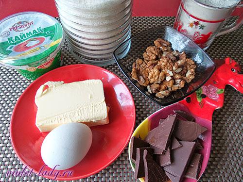 Ингредиенты для торта Везувий