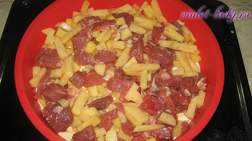 Рецепт приготовления пирога с мясом и картошкой