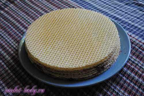 торт из вафельных коржей рецепт