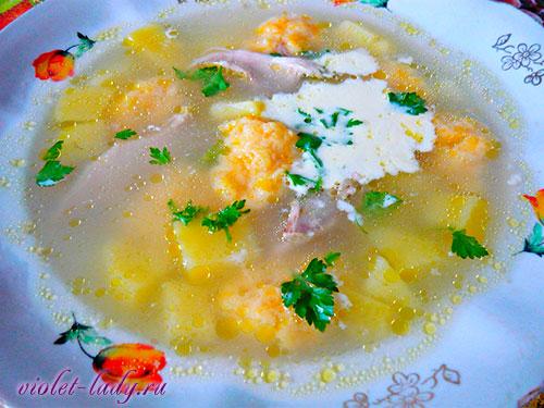 куриный суп с тыквой