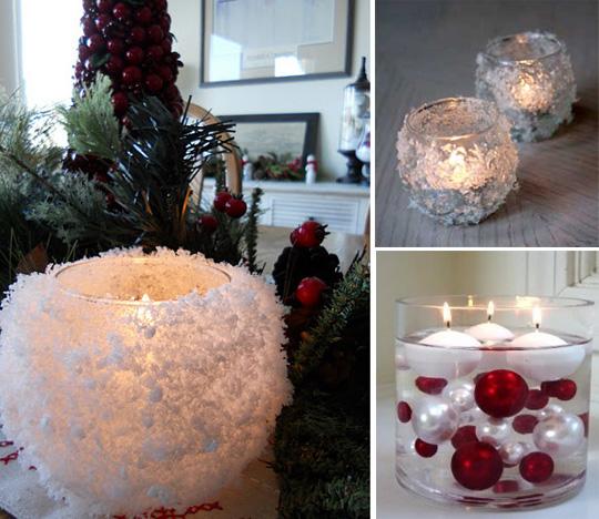Украшения со свечами на Новый Год