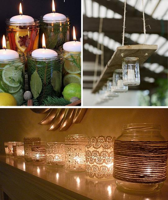 Новогоднее декорирование дома свечами
