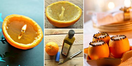 Свечки из фруктов