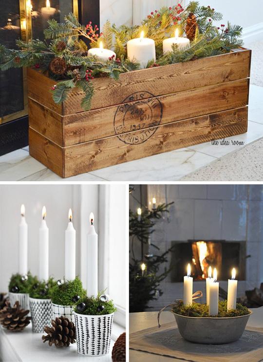 Свечи в стиле кантри