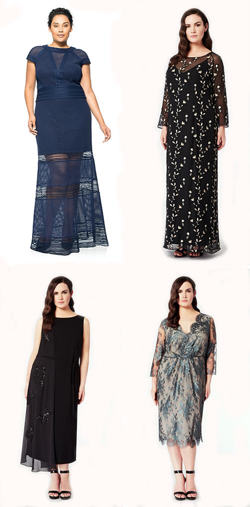 Выбор вечерних платьев для полных
