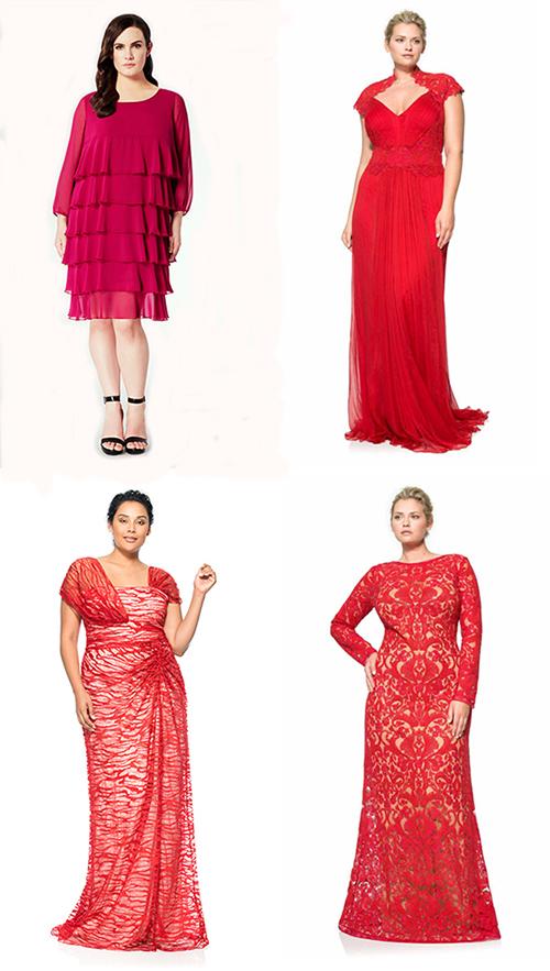 Красные вечерние платья для полных