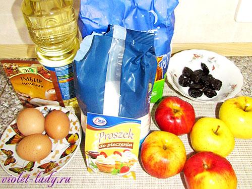 ингредиенты для имбирного пирога