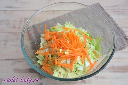 пекинская капуста с корейской морковкой
