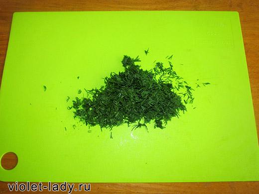 Зелень в салат с фетой