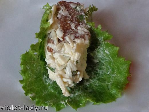 салат с сухариками простой