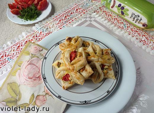 слоеное тесто пирожки с сыром
