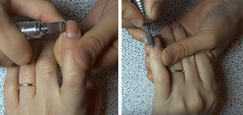 Шлифовка кожи и ногтей при помощи машинки