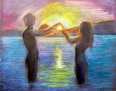гармоничные отношения руками женщины