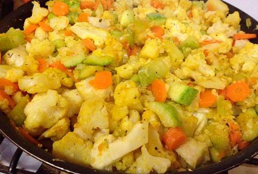 овощное рагу с мясом кабачками капустой и картошкой рецепт с фото